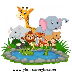 VINILO INFANTIL ANIMALES
