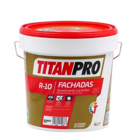 TITAN PRO R-10 PINTURA PLÁSTICA EXTERIOR/INTERIOR