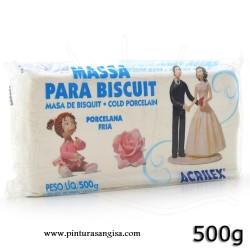 MASA PARA BISCUIT ACRILEX 500 gr