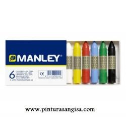 MANLEY 6 COLORES A LA CERA