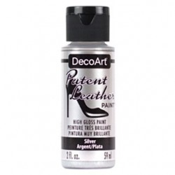 PINTURA CUERO  PATENT LEATHER 59 ML PLATA